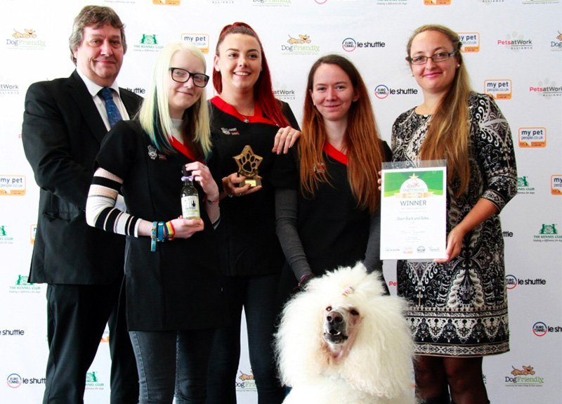 Award Presentation for Dog Grooming Surrey